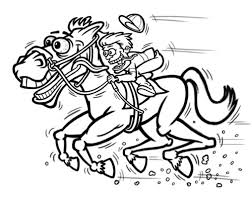 cartoon racing horse jockey characters sketch a photo on flickriver