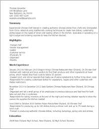 Show Examples Of Resumes by Professional Chinese Chef Templates To Showcase Your Talent