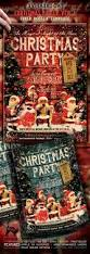 christmas party vintage style flyer poster vol 2 by thecreativecat