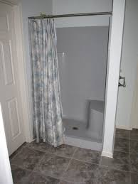 Bathroom Shower With Seat Bathroom Tub Shower Combo With Seat Shower Floor Pan Lowes