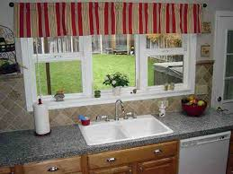 kitchen sink window ideas kitchen valance ideas white solid painting door kitchen cabinet