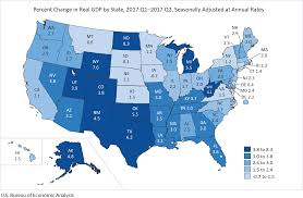 Map Of American States Bea News Release Gross Domestic Product By State Second Quarter