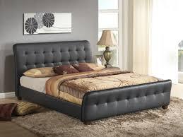 Black King Size Platform Bed Check Price Black King Size Modern Headboard Tufted Design