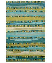 Liora Manne Area Rug Liora Manne Area Rug Seville 9625 03 Mosaic Stripe Blue 8 X 10