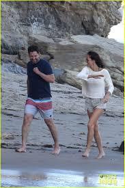 gerard butler u0026 girlfriend morgan brown spend sunday at the beach