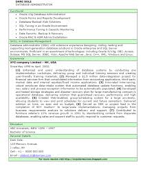 Oracle Dba Resume Example by James A Ashmore Dba Resume Meinsen David Final Resume Sql Server