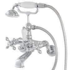 Tub Faucet Wall Mount Shop Bathtub Faucets At Lowes Com
