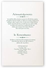 in memory of wedding program celtic and wispy shamrock wedding programs and church