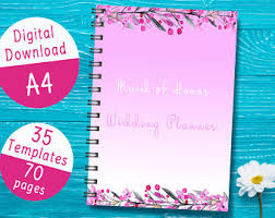 of honor planner of honor binder etsy