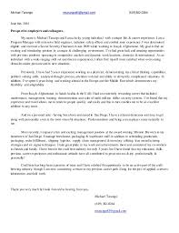 Resume For Work Abroad Professional Cover Letter U0026 Resume Of Michael Tarango June2016