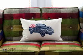 Vintage Ford Truck Fabric - vintage truck pillow a blog hop sew a fine seam