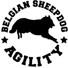 belgian sheepdog agility agility dog breed decals circle 5