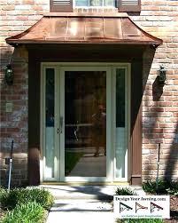Exterior Door Awnings Exterior Door Wood Awnings Exterior Front Door Awnings Metal Entry