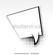 blank template comic text speech square stock vector 566544592