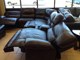 living room leather power reclining sectional sofa recliner