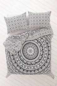 black and white bohemian elephant bedding 3 pc set queen u0026 2
