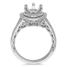 platinum halo engagement rings vintage halo split shank engagement ring in platinum