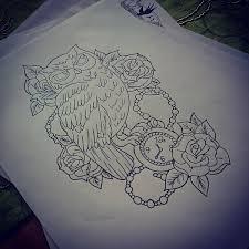 owl roses by kohlmeisen on deviantart