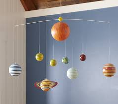 Planet Ceiling Mobile Pottery Barn Kids - Hanging solar system for kids room