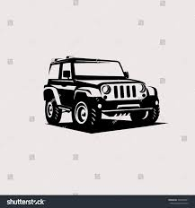 jeep logo drawing modern suv logo template offroader car stock vector 533009491