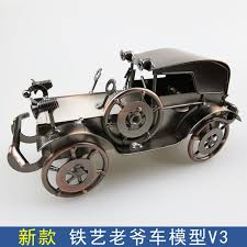 2016 new retro metal crafts car handmade creative iron craft