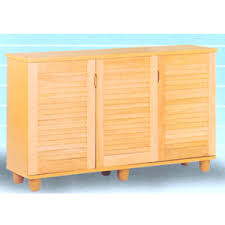 custom made shoe cabinet 3 door shoe cabinet with louver doors
