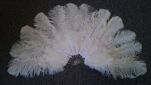 large feather fans ostrich feather fans as wedding decorations burlesque fans