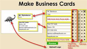 Make A Business Card Free Online Printable Business Card Design Images Gallery Category Page 4 Designtos Com