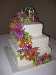 sugar chef alexis u0026 brock u0027s orchid wedding cake