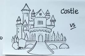 52 how to draw a disney fairy tale castle using pencil vivi