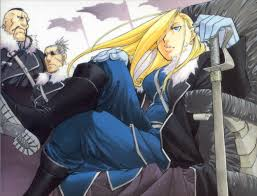 fullmetal alchemist louis armstrong olivier mira armstrong