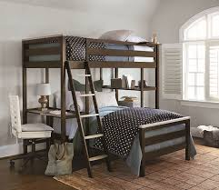 twin metal loft bed with desk and shelving bed bath twin metal loft bunk beds with desk and storage shelves