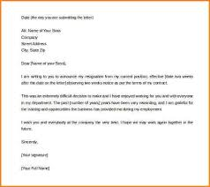two week notice resignation letter 40 two weeks notice letters
