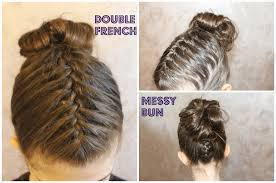 double french messy bun cute girls hairstyle holiday hairstyle