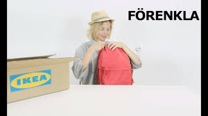 ikea forencla backpack video review on a comfortable stylish
