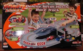 roary racing car deluxe silver hatch racetrack toys u0026 games