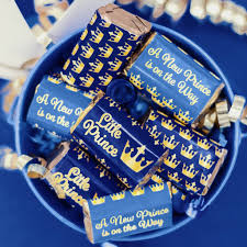 a new prince baby shower blue and gold prince baby shower mini candy bar stickers