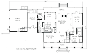Garage Loft Floor Plans Modern House Plans With Detached Garage Cottage Garagefree Loft 2