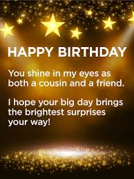 have a brightest day happy birthday card wishes for cousin