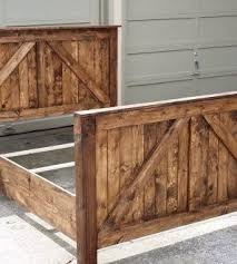 Farmhouse Bed Frame Plans Attractive Rustic Bed Frame Plans Ecoinscollector
