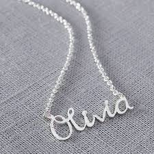 personalised name necklace personalised handmade silver name necklace by jemima lumley