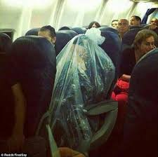 Hasidic Jew Meme - pictured orthodox jewish man covers himself in plastic bag during