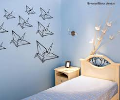 asian decor vinyl wall decal sticker origami cranes item os mb120