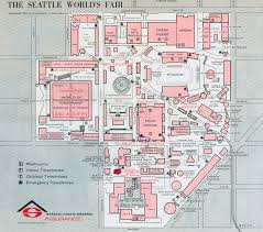 Seattle Monorail Map by Expomuseum 1962 Century 21 Exposition Seattle Washington Usa