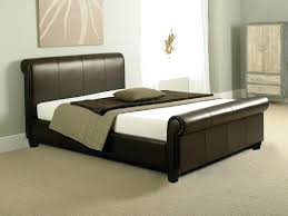 metal bed frame twin xl modern aurora scroll leather sleigh bed