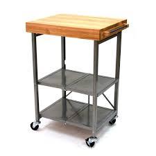 Folding Kitchen Island Cart Hard Maple Wood Dark Roast Yardley Door Origami Folding Kitchen