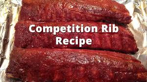 competition rib recipe howtobbqright baby back rib method youtube