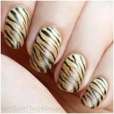 blue black silver tiger stripe nails nail