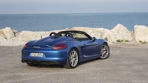 Porsche Boxster Spyder - 2016 porsche boxster spyder color sapphire blue metallic rear