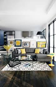 Dark Gray Living Room by Glamorous Grey Living Room Dark Grey Letter L Sofa Yellow Rounded
